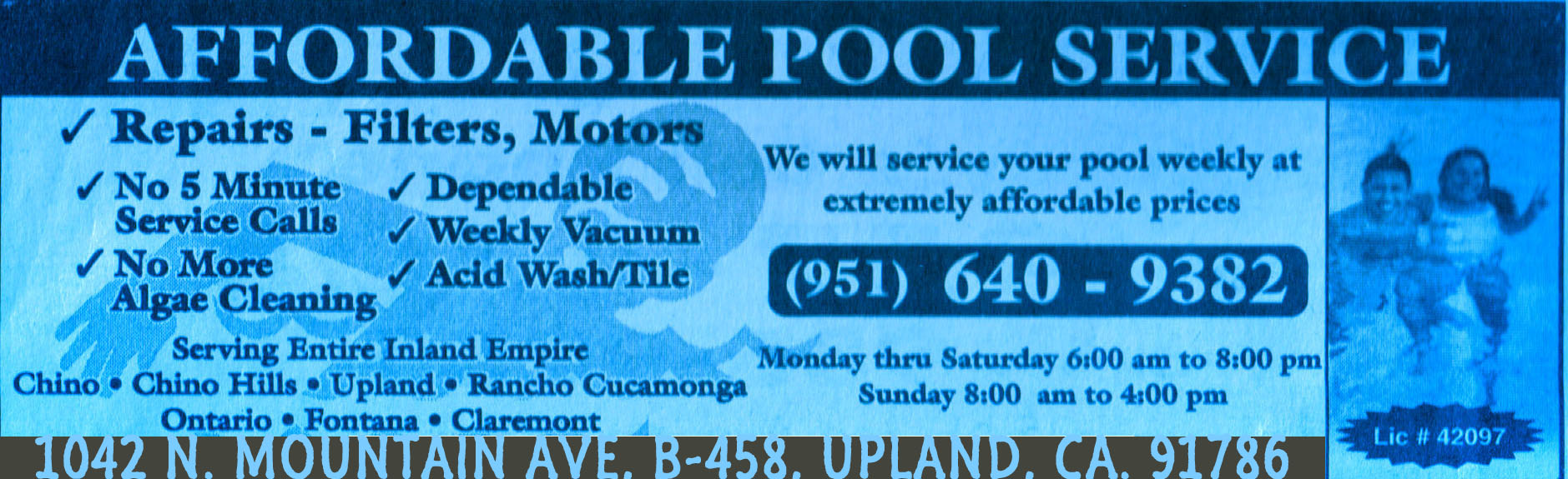 swimming pool service in the inland empire